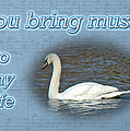 Love - I Love You Greeting Card - Mute Swan by Mother Nature