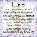 Love Poem In Purple  by Andee Design