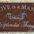Love Is A Many Splendid Thing by Debbie DeWitt