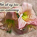 Love On Anniversary - Lilies And Lace by Mother Nature