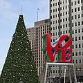 Love Park Philadelphia - Winter by Brendan Reals