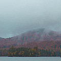 Low Clouds Over Blue Mountain Lake by David Patterson
