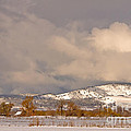 Low Winter Storm Clouds Colorado Rocky Mountain Foothills by James BO Insogna