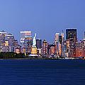 Lower Manhattan Skyline At Dusk by Jeremy Woodhouse