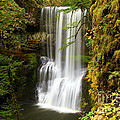 Lower South Falls At Silver Falls by Adam Jewell