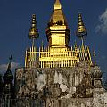 Luang Prabang Temple by Bob Christopher