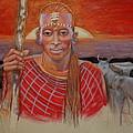 Maasai Cattleman by Pamela Mccabe