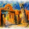 Mabel's Gate Watercolor by Charles Muhle