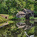 Mabry Mill And Pond With Reflection by Lori Coleman