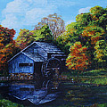 Mabry Mill In Autumn by Shirley Heyn