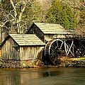 Mabry Mill In Winter by Myrna Bradshaw