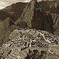 Machu Picchu Sepia by Bruce Bain