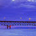 Mackinac Bridge After Sunset by Twenty Two North Photography