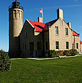 Mackinac Island Lighthouse by LeeAnn McLaneGoetz McLaneGoetzStudioLLCcom