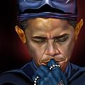 Mad Men Series 1 Of 6 - President Obama The Dark Knight by Reggie Duffie