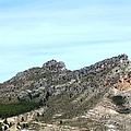 Magnificent Mountain View Panorama Close Up Leaving Zaragoza In Spain by John Shiron