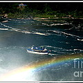 Maid Of The Mist And Rainbow At Niagara Falls by Rose Santuci-Sofranko