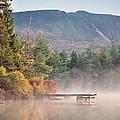 maine 26 Baxter State Park Mt. Khatadin Morning Mist on Daicey Pond by Terri Winkler