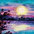 Maine October Sunset by Brenda Owen