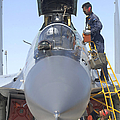 Maintainers Prepare A Sukhoi Su-30 by Stocktrek Images