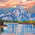 Majestic Blue Mountain Reflections by David Lloyd Glover