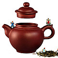 Making Green Tea On A Clay Teapot by Paul Ge