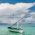 Maldivian Boat Dhoni On The Peaceful Water Of The Blue Lagoon by Jenny Rainbow