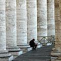 Man And Columns by Mike Nellums