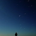 Man And Dog Watching Stars At Night by Jonatan Hernandez Photography
