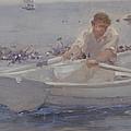 Man In A Rowing Boat by Henry Scott Tuke