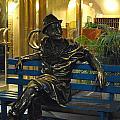 Man On A Bench In Prague by Nimmi Solomon