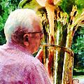 Man Playing Tuba by Susan Savad