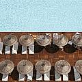 Man Swimming In Pool By Sunloungers by Axiom Photographic