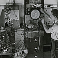 Man Testing Early Television Equipment by Willard Culver