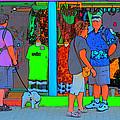Man With Dog by Richard Ortolano