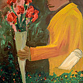 Man With Flowers  by Bruce Stanfield