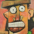 Man With Terracotta Hat And Green Shirt by Tim Nyberg