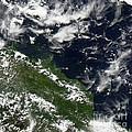 Manam Island, Papua New Guinea by Nasa