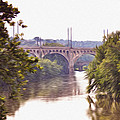 Manayunk Bridge Along The Schuylkill River by Bill Cannon