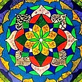 Mandala Circle Of Life by Sandra Lira