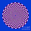 Mandala Figure Number 5 With Rhombus Steps In Black And White And Purple by Marcus West