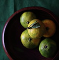 Mandarin Orange In Wooden Bowl by © Miss Snail All right reserved