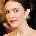 Mandy Moore Wearing Chopard Earrings by Everett