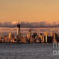 Manhattan Skyline At Dusk by Rob Hawkins