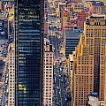 Manhattan Streets From Above by Mark Dodd