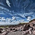 Manorbier Rocks Big Sky by Steve Purnell