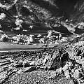 Manorbier Rocks Too Mono by Steve Purnell