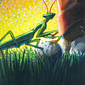 All Players Great And Small - Mantis by Len Ross