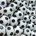 Many soccer balls
