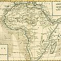 Map Of Africa by Guillaume Raynal